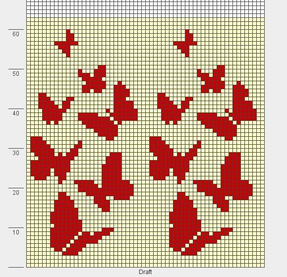 бабочки для чехла. вязать аглицким способом. 60 в круге