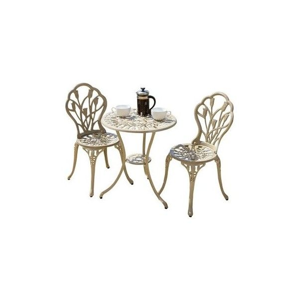 best selling home decor nassau cast aluminum outdoor bistro set 217184 176 liked - Garden Furniture 3 Piece