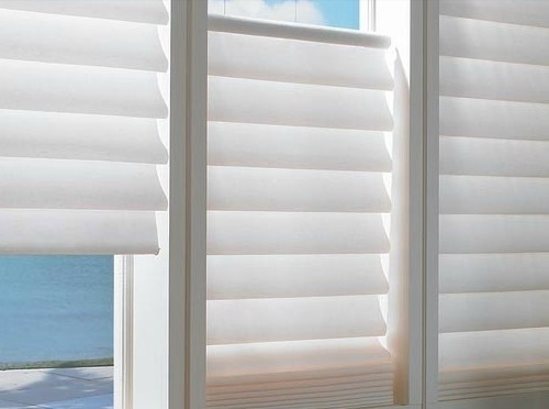 Roman shades for bathroom