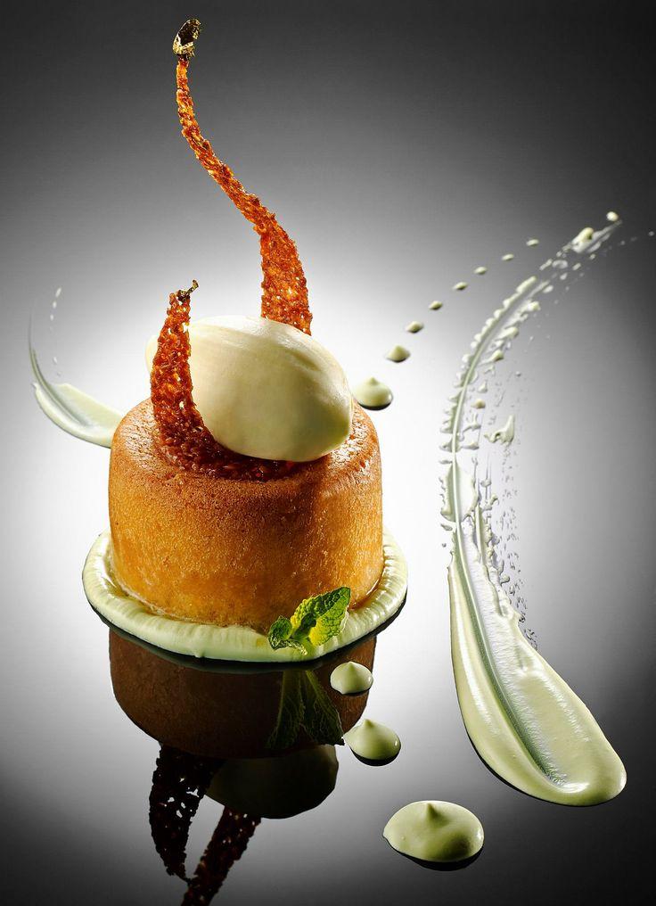 Le Mojito, baba imbibé au jus de citron vert, espuma à la menthe, fraîcheur Bacardi - Château Saint-Martin Spa