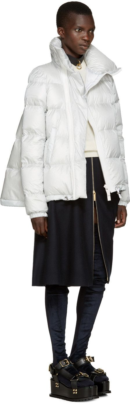 Sacai - Grey Trapeze Down Jacket