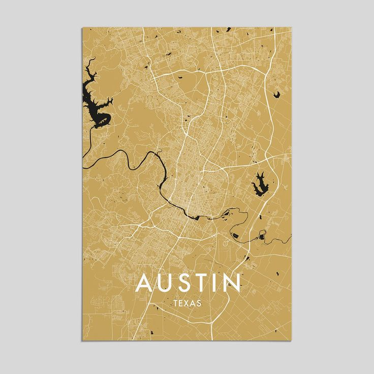 Map Of Germany With Cities%0A Austin  Texas   City Map Print  Style