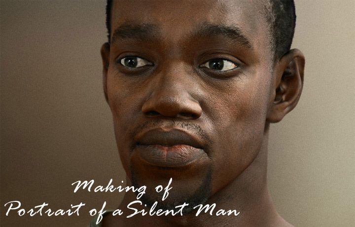 Making a 3D portrait of a man's bust using Cinema 4D.