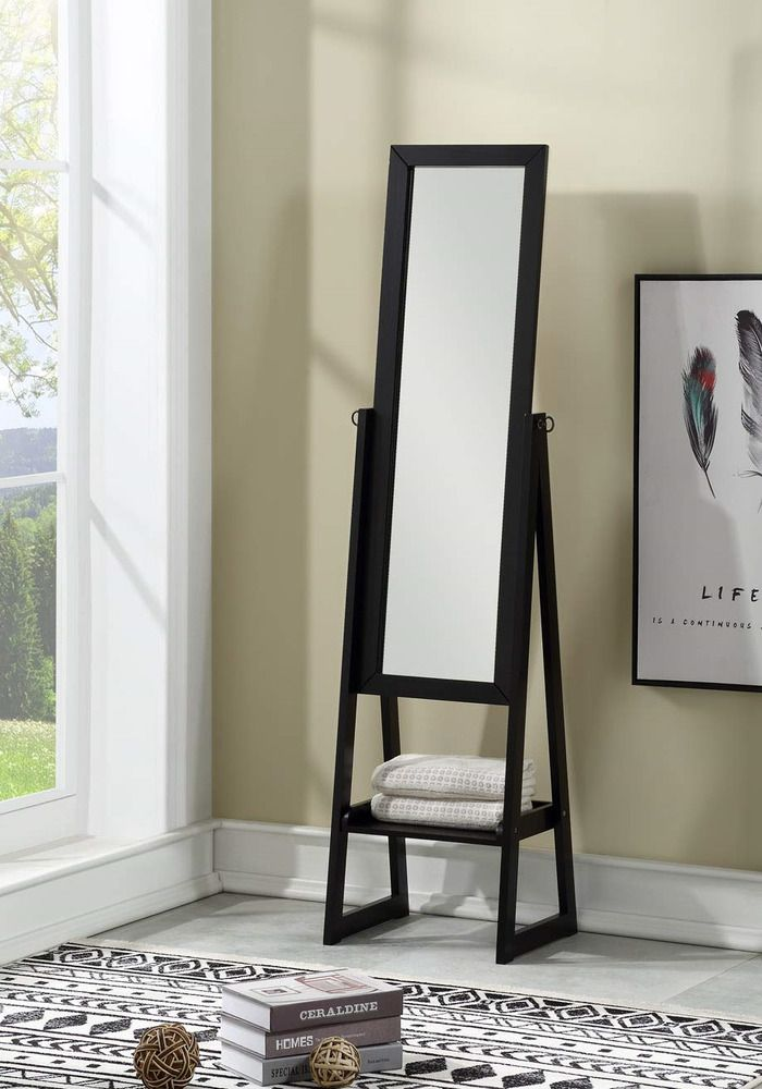 Ehomeproducts Solid Wood Cheval Floor Standing Tilting Mirror With Bottom Shelf Fashion Home Garden Homedcor Mirrors Ebay Bottom Shelf Shelves Home Decor