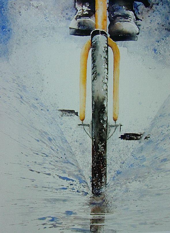 Watercolor by Erna de Backer.