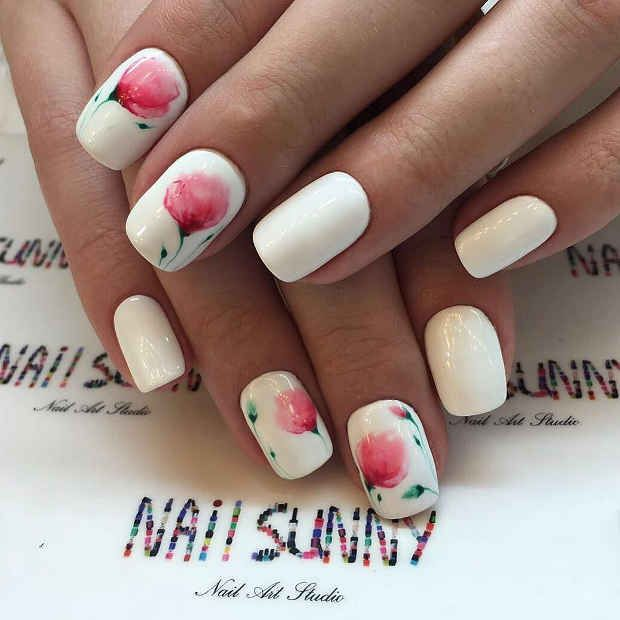 Stylish Spring Floral Nail Art Trend 2018 2019 Nail Designs