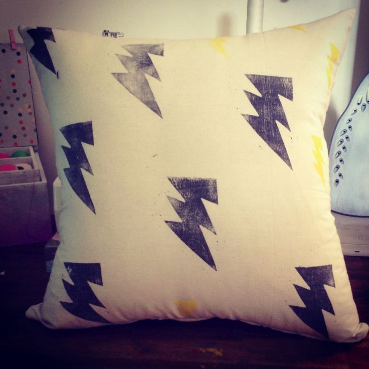 Harry Potter inspired hand printed pillow.