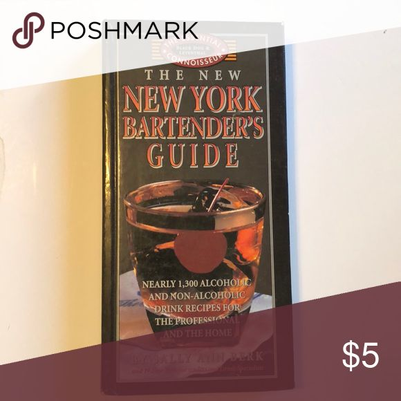 New York Bartender's Guide book +1300 alcoholic & non-alcoholic drinks Other