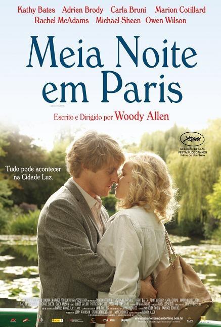 Meia Noite em Paris  Meia-Noite em Paris é uma comédia romântica sobre um escritor e roteirista americano que vai com família de sua noiva a capital da França, cidade que ele idolatra