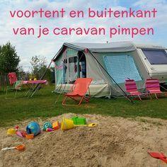 Hippe sleurhut: voortent en buitenkant caravan pimpen #leukmetkids #caravan #voortent #pimpen #vintage #retro #caravan #trailer #kamperen #camping