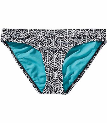 Title Nine: Bodacious Swimsuit Bottom - Anything but basic, the Bodacious is better designed and more bad-ass than any swuimsuit your average Betty could dream up. Fully-lined, mid back coverage. Mid-rise. <strong>Only @ T9.</strong><br/>XS(2-4), S(6-8), M(8-10), L(10-12), XL(12-14)