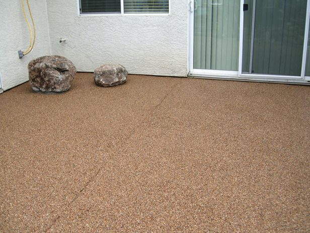 DIY Pebble Patio To Cover Up An Old Concrete Slab