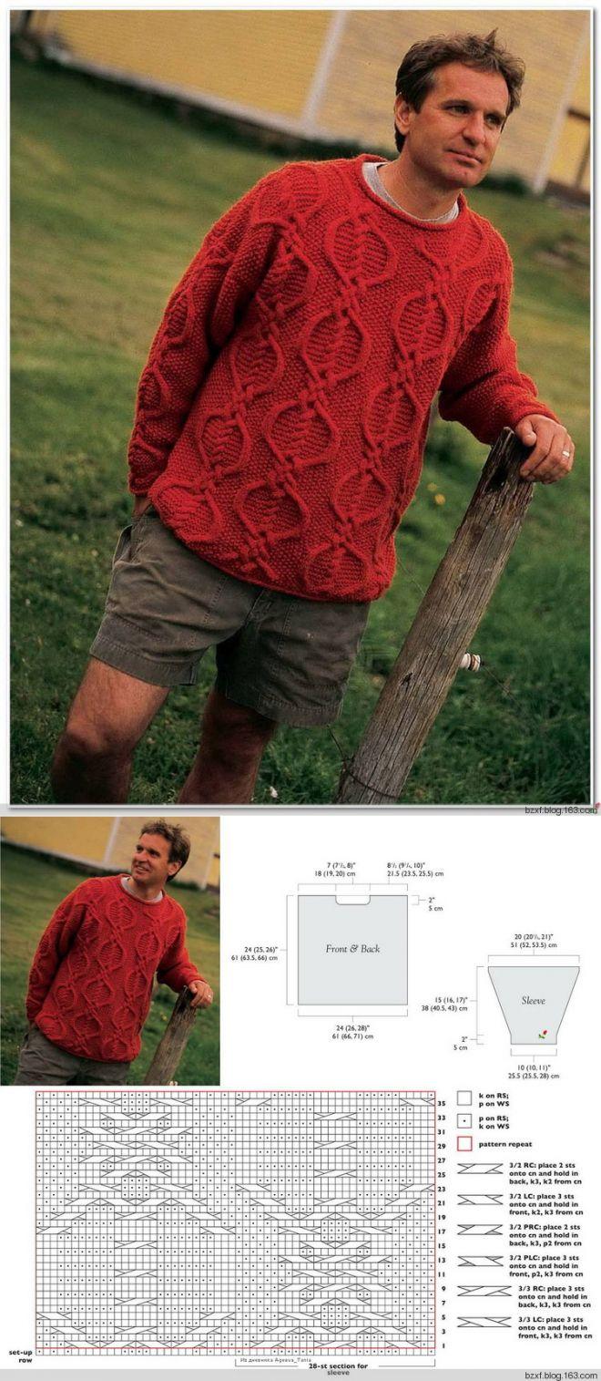 Male spokes sweater   ВЯЗАНИЕ   СПИЦАМИ   Postila