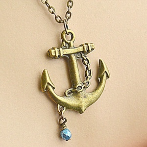 Anchor Charm Necklace, $11, now featured on Fab.