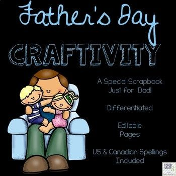 Unlike any other Father's Day product out there, this product gives you and your students the flexibility to use their creativity and talents to bring a keepsake home to Dad that will certainly make him smile! This product is EDITABLE so that they can be used for grandfathers, uncles, step-fathers, etc...