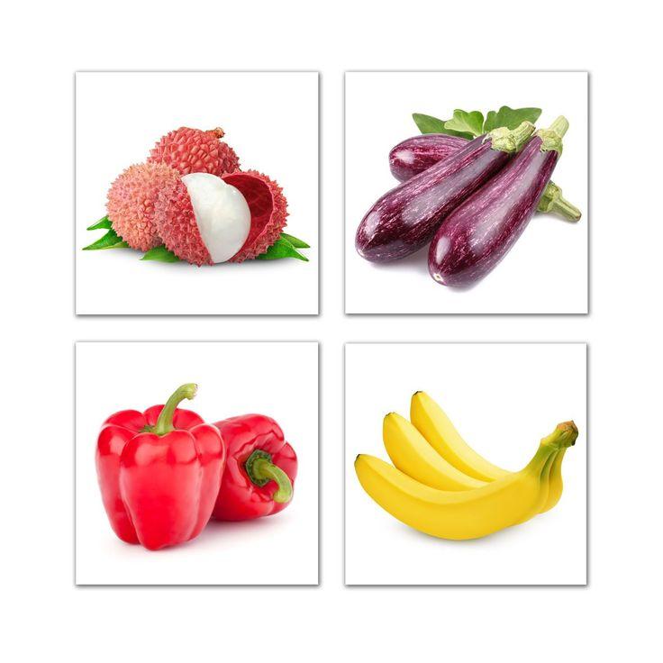 Black Fruits Splash Modern Kitchen Art Canvas Print Poster: Canvas Prints Fruit And Vegetables