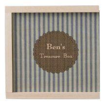 Men's-Keepsake_Treasure_Box_Ticking_Name_Template Wooden Keepsake Box