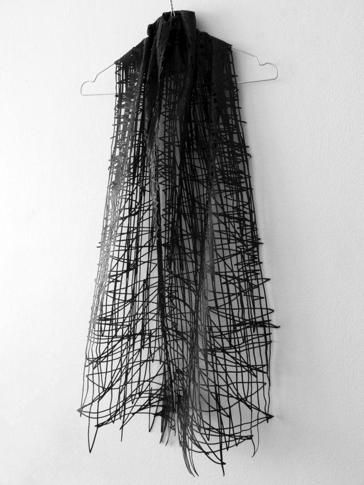 Wearable Sketch - laser cut fashion from hand-drawn illustrations; innovative textiles design; fabric manipulation // Elvira't Hart