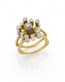 A Peter Minturn 1970s yellow gold and diamond ring - Webb's | Find Lots Online