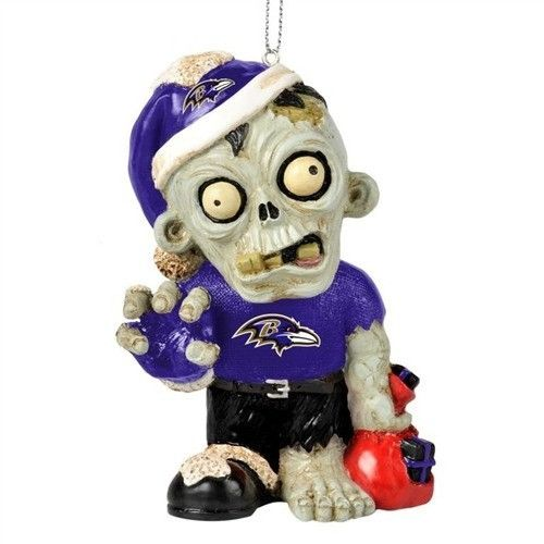Baltimore Ravens Resin Zombie Ornament