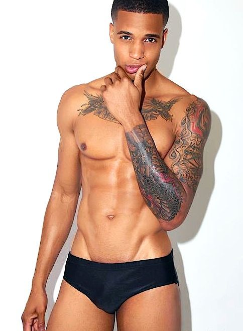 Skin. Ink. Tattoo. Chest. Sleeve. Cute | Black Male Models | Pinterest