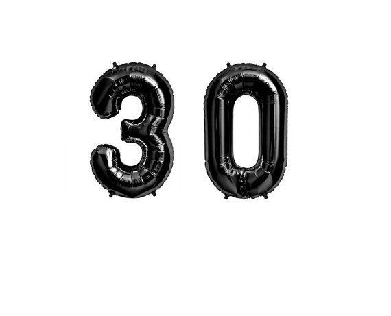 34 30th Birthday Giant Balloons Black Huge by brightsoslight