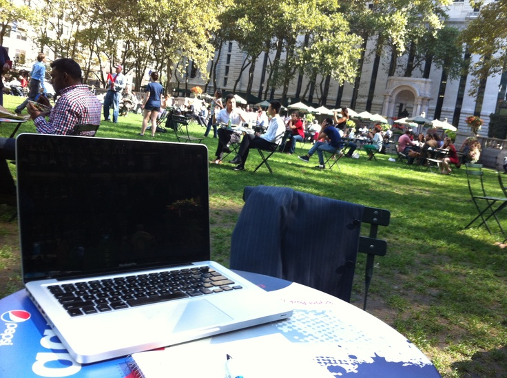 At out Bryant Park office today.