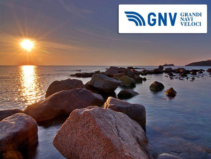 #portotorres #sunrise with lighthouse and stone pier ( #sardinia )     http://www.gnv.it/it/destinazioni-traghetti/porto-torres-sardegna.html