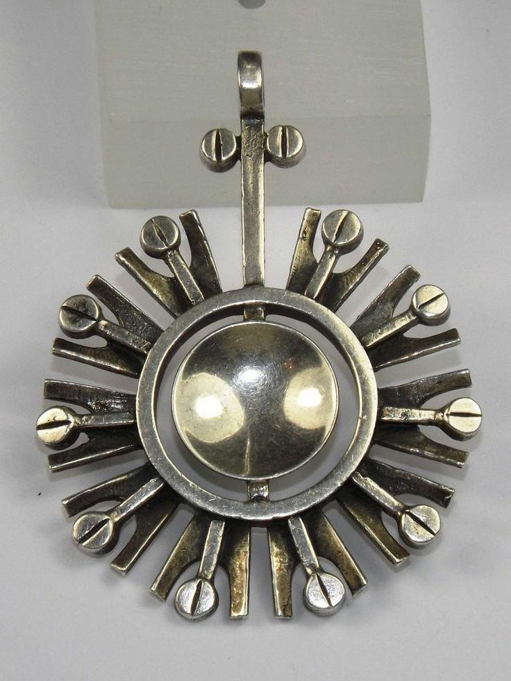 Turun Hopea, vintage modernist silver pendant. | eBay.com #Finland