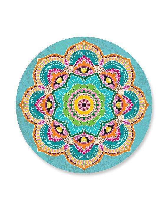 Mandala Wandtattoos Set Mit 9 Bunten Mandala Blumen Aufklebern Mandalas Bunten Mandala Mandalablu Mandala Ausmalen Mandala Blumen Ausmalbilder Mandala
