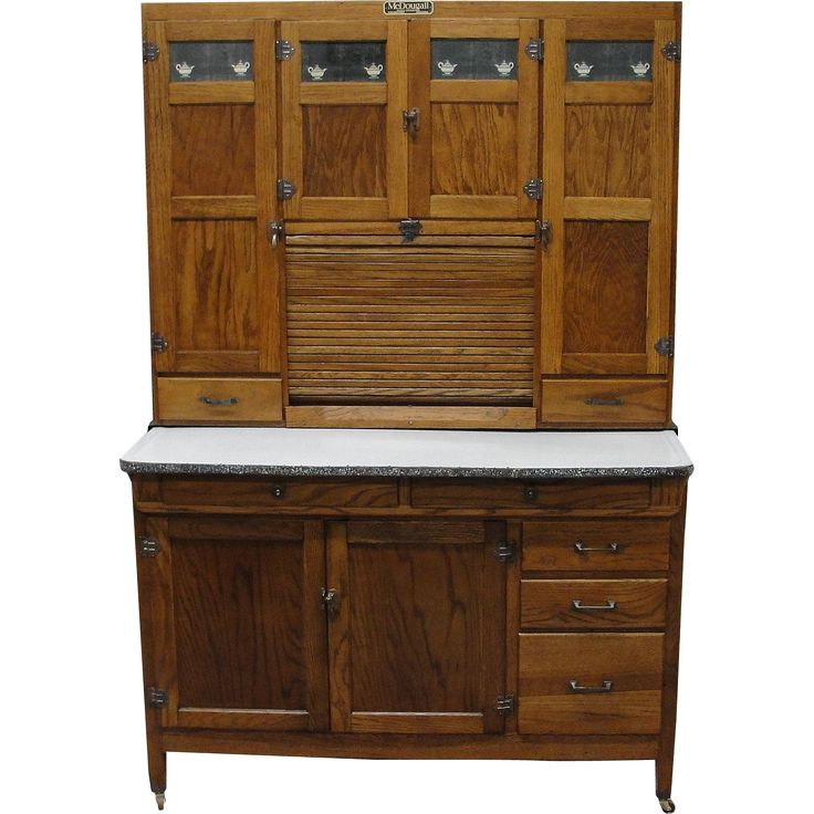 Vintage 1920 McDougall Oak Kitchen Cabinet - 383 Best Sellers / Hoosier Cabinets Images On Pinterest Dressers