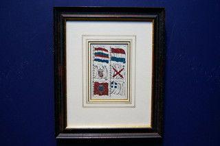 Antieke scheepsvlaggenkaart 19401 op www.lansantiek.com