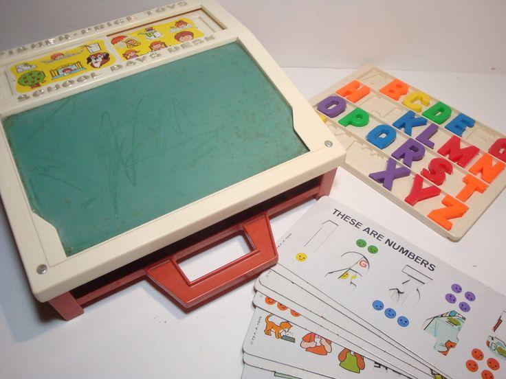 Vintage Fisher Price Toys School Days Desk Fisher Price