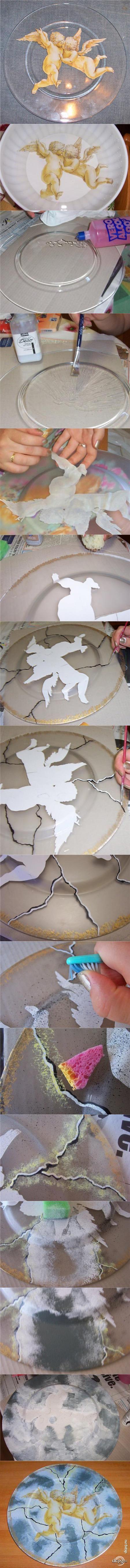Декупаж - Сайт любителей декупажа - DCPG.RU | Имитация мрамора на тарелочке Click on photo to see more! Нажмите на фото чтобы увидеть больше!  decoupage art craft handmade home decor DIY do it yourself tutorial plate