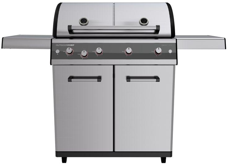 OUTDOORCHEF DUALCHEF S 425 G Η μαγική λέξη είναι: DUALCHEF. Μία ψησταριά,δύο ζώνες μαγειρέματος και εκατοντάδες επιλογές για νόστιμες συνταγές στο μπάρμπεκιου – είναι η νέα D-LINE από την OUTDOORCHEF. Θα εντυπωσιαστείτε από τις νέες ψησταριές υγραερίου που είναι εφοδιασμένες με το σύστημα DUAL GOURMET SYSTEM® (DGS), το οποίο φέρνει την επανάσταση στο μπάρμπεκιου δίνοντας την δυνατότητα προετοιμασίας διαφορετικών πιάτων σε δύο διαφορετικές ζώνες θερμοκρασίας- ενώ χρησιμοποιείτε την ίδια…