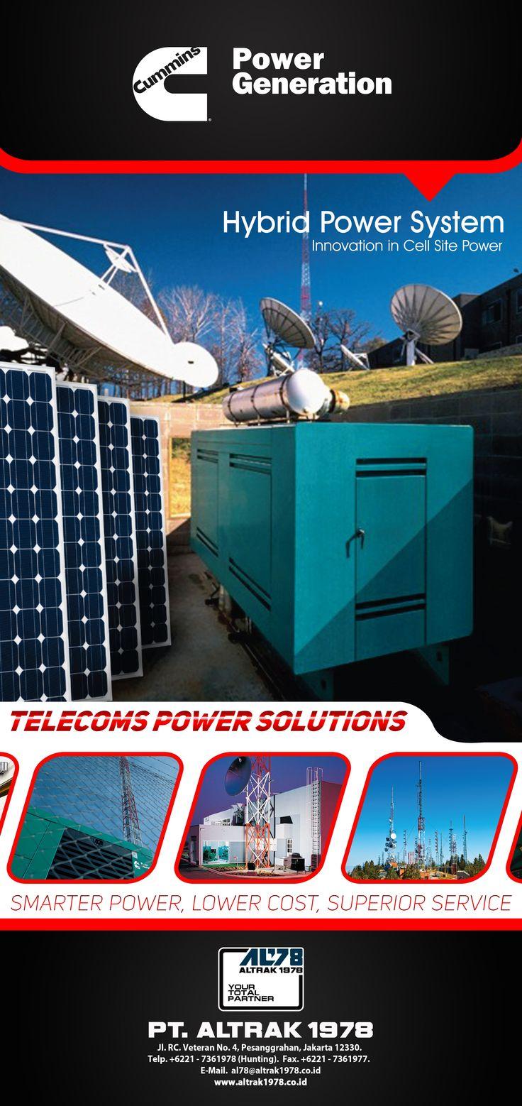 Roll Up Banner Cummins Power Generation Telecom Power Solution 85x180cm