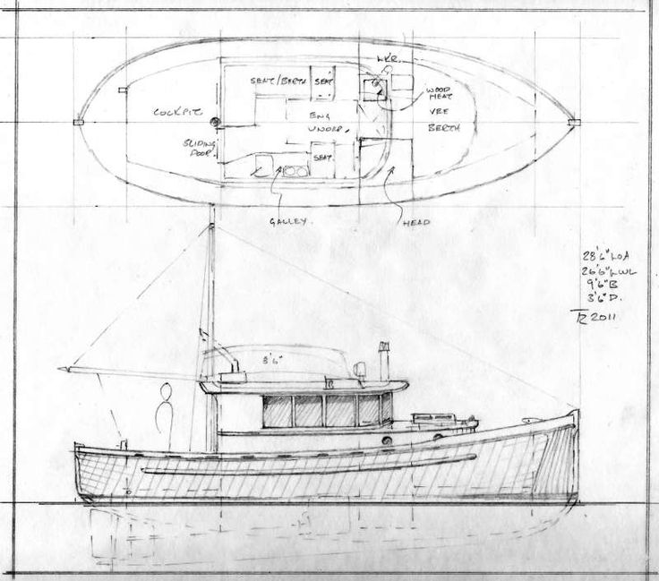 242 best boat plans images on pinterest model building party johnson 28 double ended bc workboat style traditional cruiser small boat designs malvernweather Choice Image