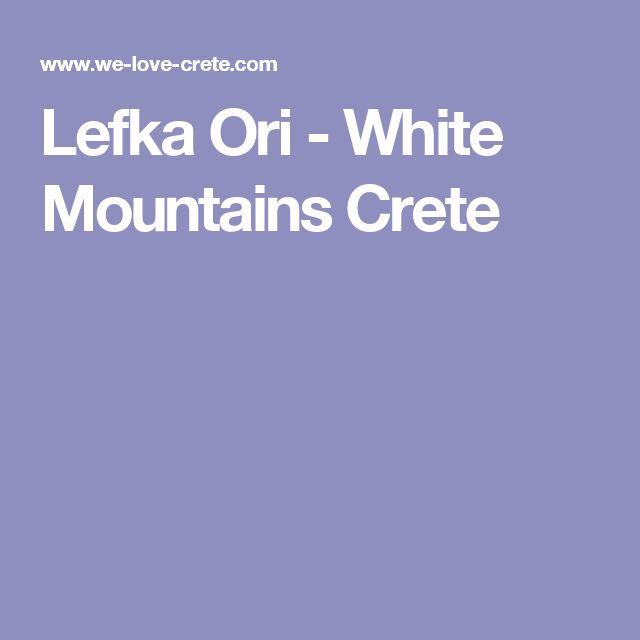 Lefka Ori - White Mountains Crete