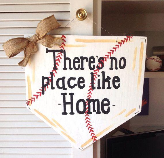 Baseball Door Hanger by MegCsDesigns on Etsy, $35.00