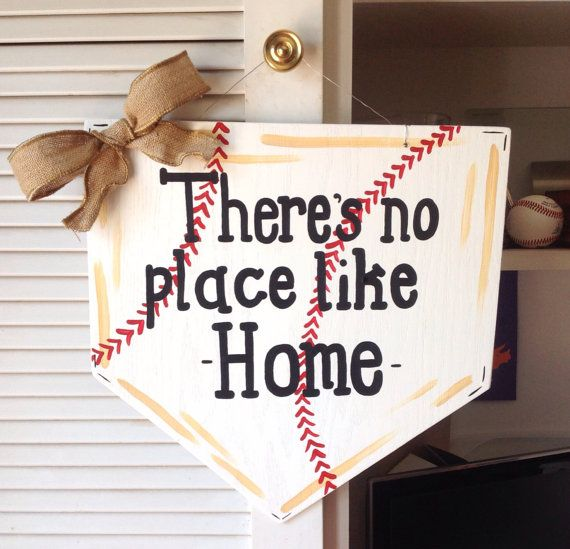 Baseball Door Hanger by MegCsDesigns on Etsy, $35.00