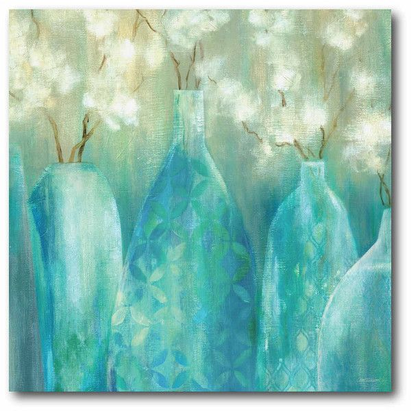 Topaz Arrangement Canvas Wall Art ($99) ❤ liked on Polyvore featuring home, home decor, wall art, art, canvas wall art and canvas home decor