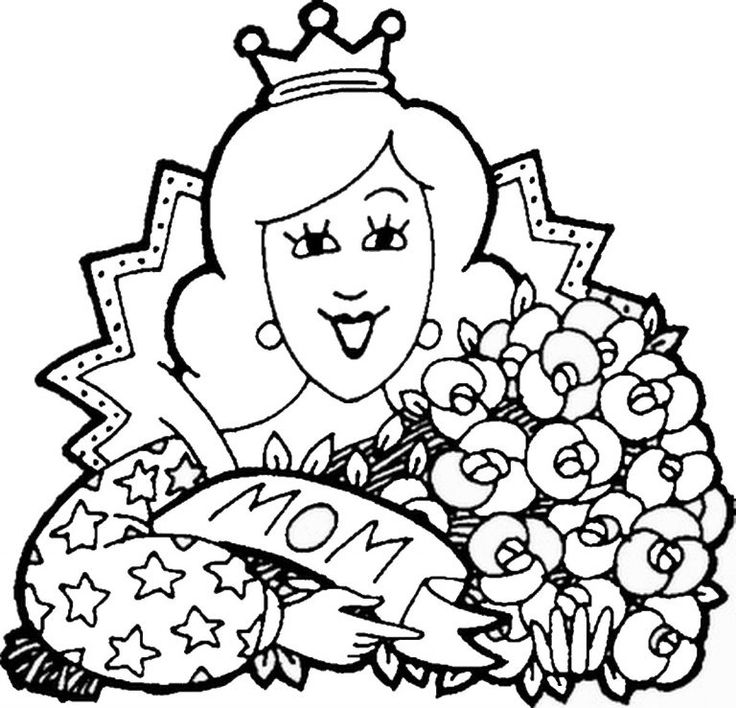 coloring page mothers day | Раскраски, Детские раскраски ...