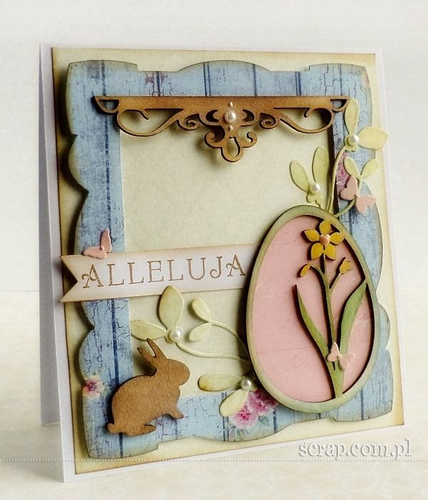 easter card  LM chipboards, stamp and pigment inkpad http://www.hurt.scrap.com.pl/category/tekturki