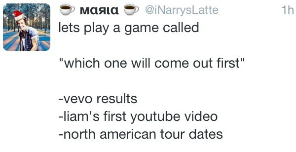 Liam's first video, north American tour dates... The explanation for evolution................vevo results