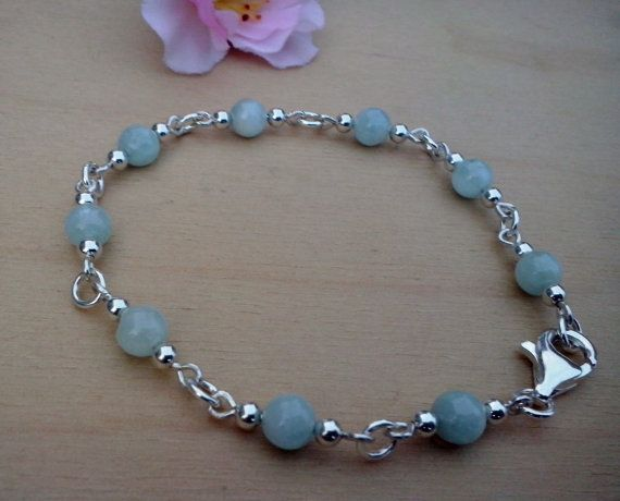 Handmade Bracelet with Aquamarine and sterling silver by TommyDark