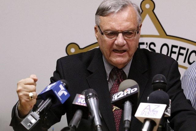 """Is it just me, or does this picture look like """"Joe Arpaio: Barney Franks' evil twin""""?Arizona Sheriff, Cold Cases, Sheriff Joe, Court Rules, Arpaio Offices, Racial Profile, Joe Arpaio, Maricopa County, Federer Court"""