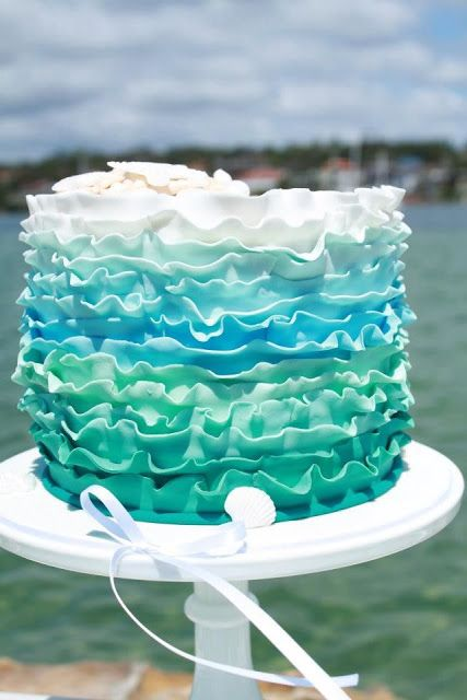 Even in the middle of winter, this cake with any umbrella drink would feel like a summer's day at the beach!