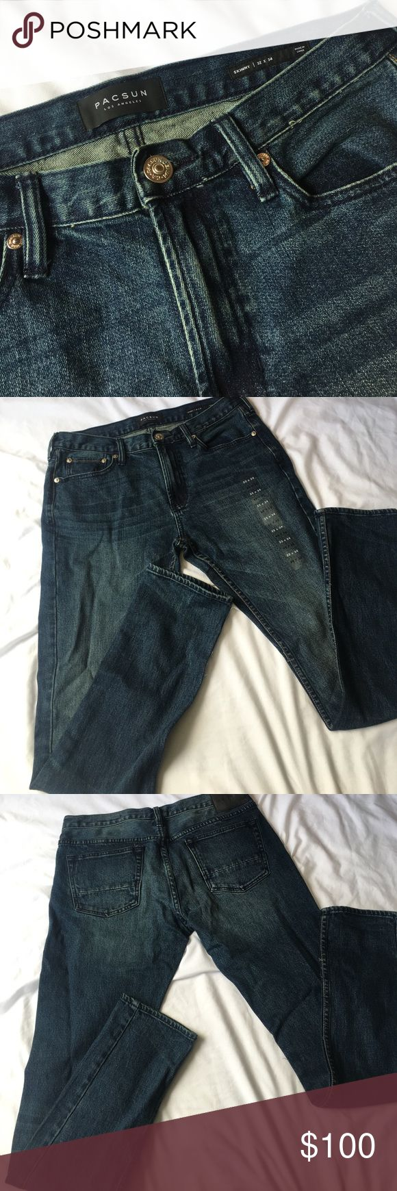 Pacsun jeans BRAND NEW! Brand new pacsun jeans.. 32X34. Color: medium indigo.. PRICE IS NEGOTIABLE! As long as it's reasonable. PacSun Jeans Skinny