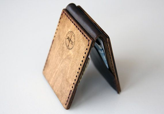 Hey, I found this really awesome Etsy listing at https://www.etsy.com/listing/236450298/wooden-bifold-wallet-wood-and-leather
