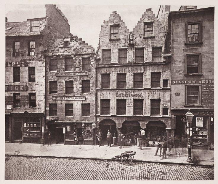 Old Building, High Street, Glasgow, 1868